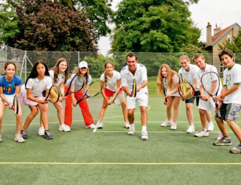 play tennis with students from around the world